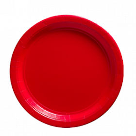Apple Red Paper Dinner Plates 20ct