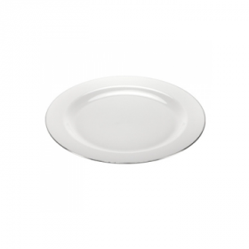 """Magnificence - 9"""" Pearl Plate - Silver Edge - 10 Count"""