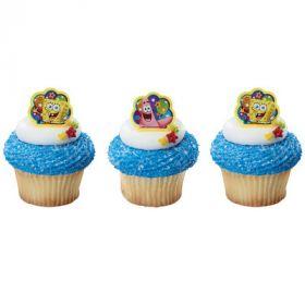 SpongeBob SquarePants Cupcake Rings 6pcs
