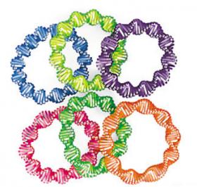 Plastic Neon Twist Coil Bracelets 1dz