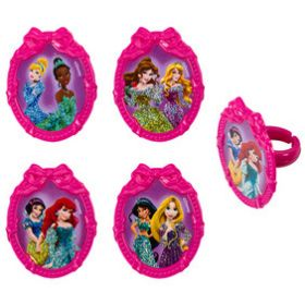 Princess Ribbon Frames Cupcake Rings 6pcs