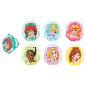Disney Princess  Cupcake Rings 6pcs