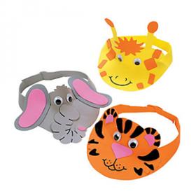 Zoo Animal Visor Craft Kit