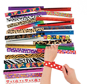 Metal Slap Bracelet Assortment 50ct