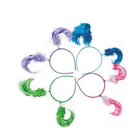 Plastic Neon Ponytail Head Boppers