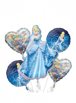 Cinderella Balloon Bouquet 5pc