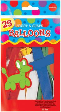 Twist & Shape Balloons - Pack of 25