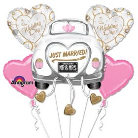 Just Married Balloon Bouquet 5pc