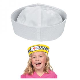 DIY White Sailor Hats - 12 pcs.