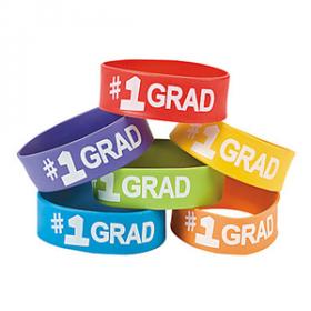 Graduation Big Band Bracelets (1doz)