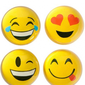 "1.8"" 45mm Emoticon Balls 1dz"