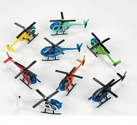 Die Cast Helicopters 1 doz
