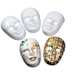 DIY Plastic White Face Masks