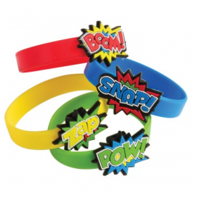 Superhero Rubber Bracelets