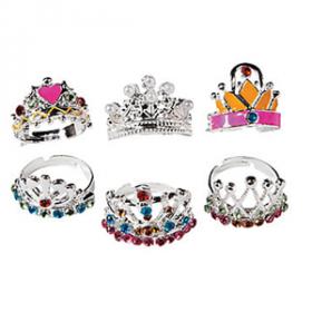Metal Adjustable Princess Crown Rings