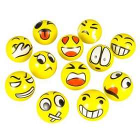 "3"" Emoticon Stress Ball 1dz"