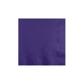 New Purple Beverage Napkins 50Ct