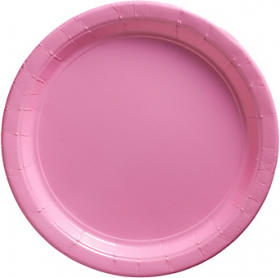 New Pink Paper Dinner Plates 20ct