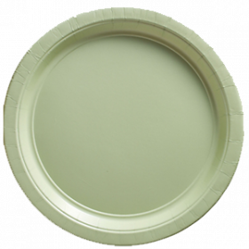 Leaf Green Paper Dinner Plates 20ct