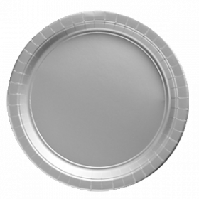 Silver Paper Dinner Plates 20ct