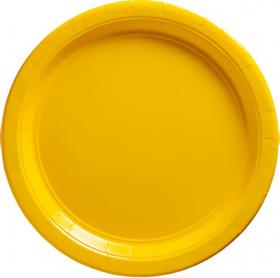 Yellow Sunshine Paper Dinner Plates 20ct