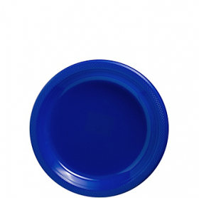 Bright Royal Blue Plastic Dessert  Plates 20ct