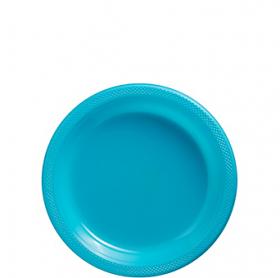 Carribbean Blue Plastic Dessert  Plates 20ct