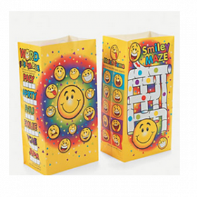 Clay-Coated Smile Face Fun Meal Bags (1dz)