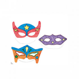 Color Your Own Superhero Masks (1dz)