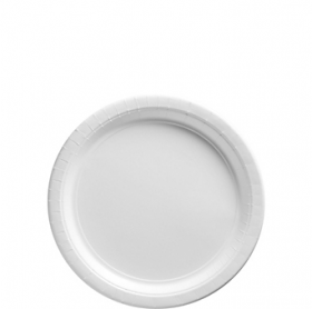 Frosty White Dessert Plates 20ct