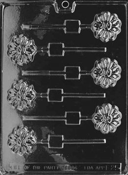 Flower Chocolate Lollipop Molds