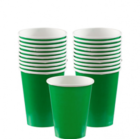 Festive Green Paper Cups 20ct