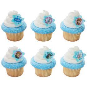 Frozen Cupcake Rings  6pcs