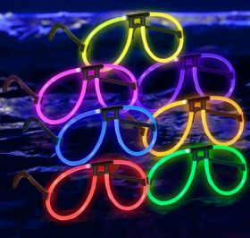 Assorted Glow Eyeglasses 6pcs