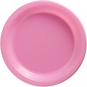 New Pink Plastic Dinner Plates 20ct