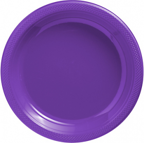 New Purple Plastic Dinner Plates 20ct
