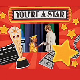 """""""You're A Star"""" Picture Frame Magnet Craft Kit"""