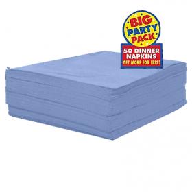 Pastel Blue Dinner Napkins 50ct