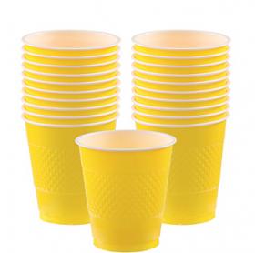 12oz Light Yellow Plastic Cups 20ct