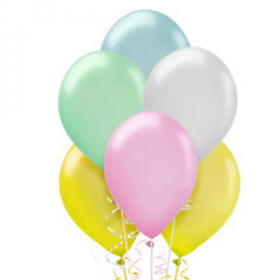 Assorted Pastel Pearl Balloons 72ct