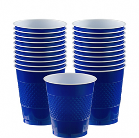 12oz Bright Royal Blue Plastic Cups 20ct