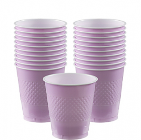 12oz Lavender Plastic Cups 20ct