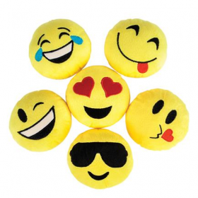 "5"" Emoticon Plush 1dz"