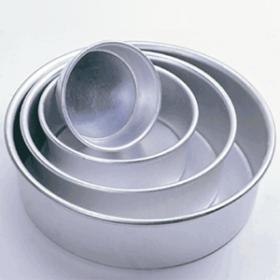 """8"""" x 3"""" Round Aluminum Pans (1PC) (Fat Daddio's)"""