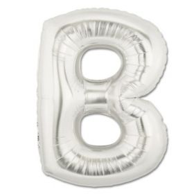 "34"" Inch Letter B Silver Giant Foil Balloon Uninflated"