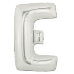 "34"" Inch Letter E Silver Giant Foil Balloon Uninflated"