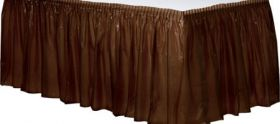 Chocolate Brown  Plastic Table Skirt