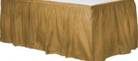 Gold Sparkle  Plastic Table Skirt