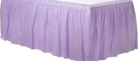 Lavenders  Plastic Table Skirt