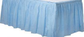 Pastel Blue  Plastic Table Skirt
